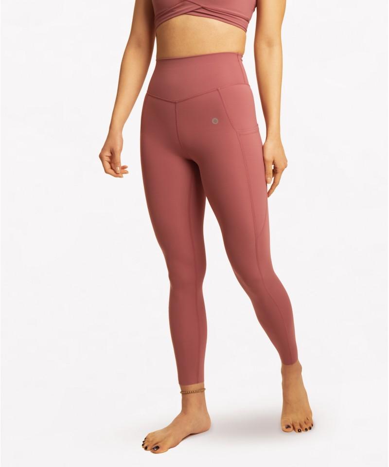 現在就出發 II-高腰25吋 - 運動長褲・玫瑰粉