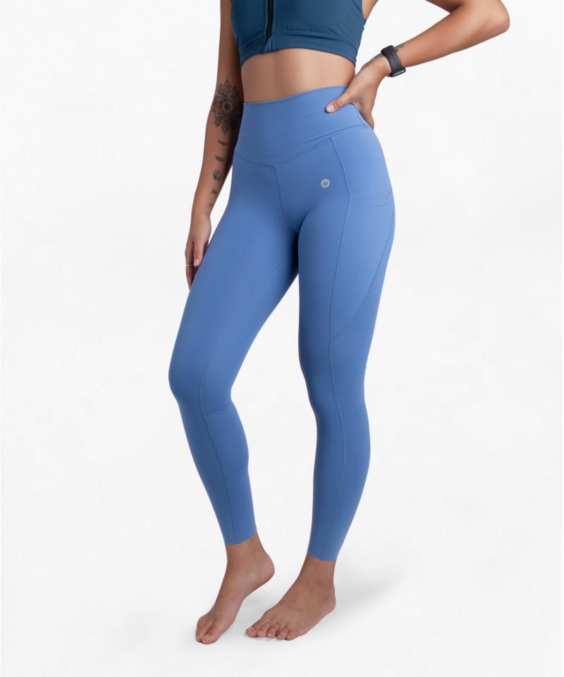 現在就出發-中高腰25吋 - 運動長褲・寶貝藍